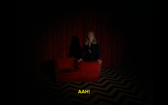 A unique chair in the Black Lodge.